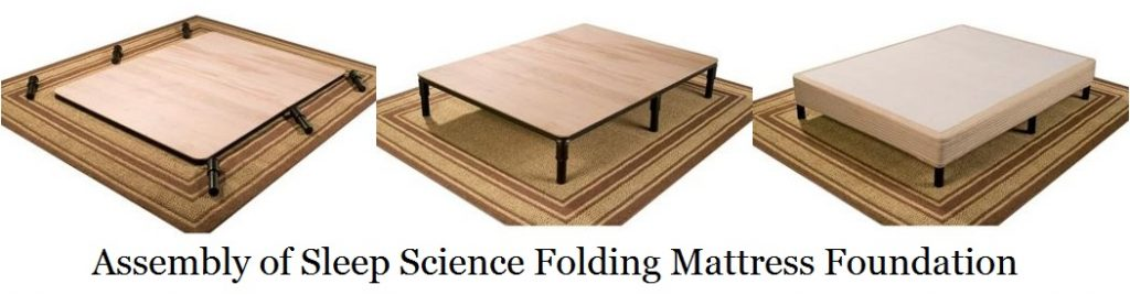 Sleep Science Folding Mattress Foundation,assembly
