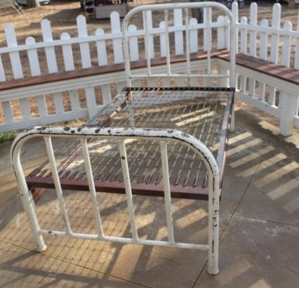 Antique Steel Bed 2