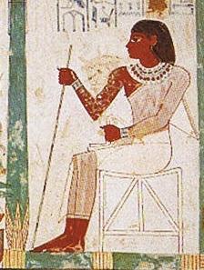 Egyptian woman wearing linen
