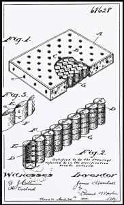 Pocket-Spring Patent Drawing Inverted