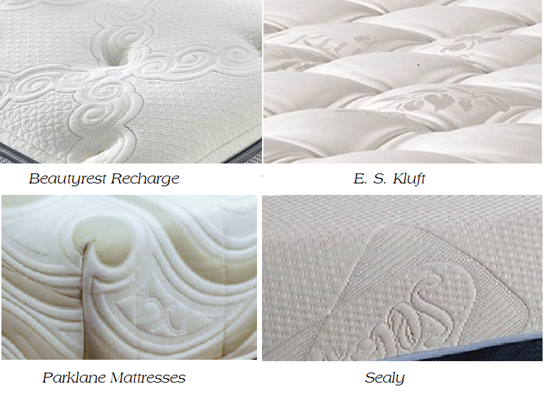 Four Samples of Damask Mattress Covers